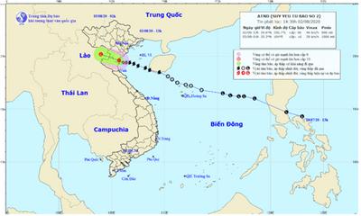 Bão số 2 đã suy yếu thành áp thấp, cảnh báo lũ quét ở các tỉnh miền núi