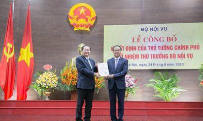 Công bố quyết định bổ nhiệm Thứ trưởng bộ Nội vụ đối với ông Vũ Chiến Thắng
