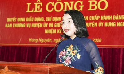 Nghệ An: Điều động bà Nguyễn Thị Thơm giữ chức Bí thư Huyện ủy Hưng Nguyên