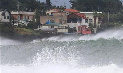 Bão Haishen đổ bộ Hàn Quốc sau khi càn quét miền Nam Nhật Bản