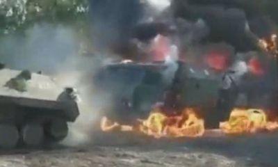 Tin tức quân sự mới nóng nhất ngày 22/9: Xe quân sự Nga bốc cháy dữ dội, tổn thất nặng nề