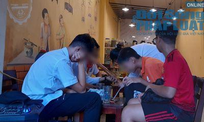 Học sinh Hà Nội ngập tràn trong khói thuốc lào sau giờ học