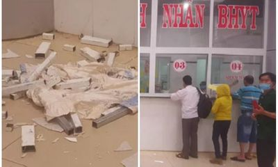 Trần thạch cao bất ngờ sập tại bệnh viện nghìn tỷ, nhiều bệnh nhân hốt hoảng bỏ chạy