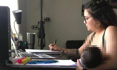 Từ chối để sinh viên cho con bú trong giờ học online, giáo sư phụ trách phải viết thư xin lỗi