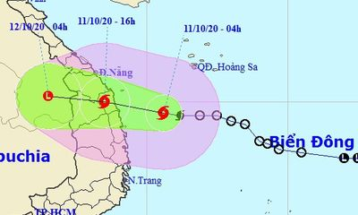 Áp thấp nhiệt đới mạnh lên thành bão số 6, tăng tốc hướng vào miền Trung