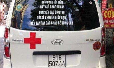 Dán thông điệp đặc biệt lên xe cứu thương, ông Đoàn Ngọc Hải nhận được 3.000 hộp sữa đặc