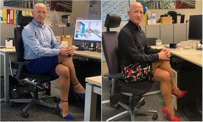 Chứng minh quần áo không có giới tính, ông bố 3 con diện váy và đi giày cao gót 12cm