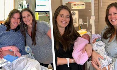 Cặp chị em sinh đôi đẻ con cùng một ngày, vào đúng sinh nhật