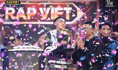 Dế Choắt trở thành Quán quân Rap Việt mùa đầu tiên với số lượt bình chọn cao