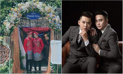 Cặp đôi đồng tính tổ chức đám cưới, nhan sắc khiến dân mạng