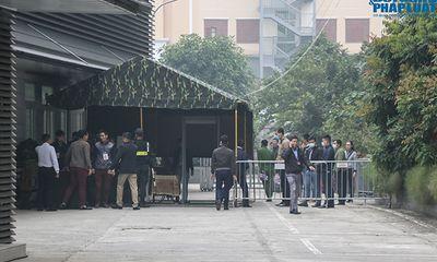 Ảnh: An ninh thắt chặt ở phiên xử kín ông Nguyễn Đức Chung