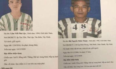 Chân dung 2 phạm nhân thụ án tội giết người trốn khỏi trại giam