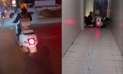 Video: Bị đụng xe không được xin lỗi, thanh niên có pha xử lý