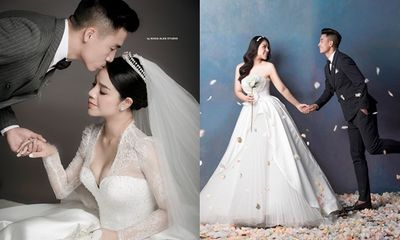 Trọn bộ ảnh cưới đẹp như mơ của trung vệ Bùi Tiến Dũng và cô dâu Khánh Linh
