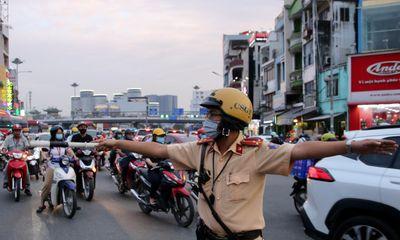 Huy động gần 2.000 chiến sĩ cảnh sát điều tiết giao thông đêm giao thừa tại TP.HCM