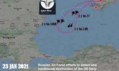 Tin tức quân sự mới nhất ngày 26/1: Sáu chiến đấu cơ Nga dội bom tàu khu trục Mỹ