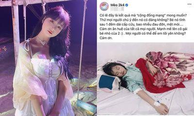 Nữ streamer Mèo 2k4 yếu ớt trên giường bệnh sau nghi vấn lộ clip nhạy cảm