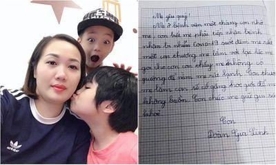 Xúc động trước bức thư của con gái gửi mẹ là điều dưỡng trong tâm dịch Chí Linh