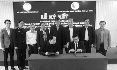 Lai Châu: Hội Luật gia và sở TN&MT ký kết phổ biến, giáo dục pháp luật về tài nguyên và môi trường