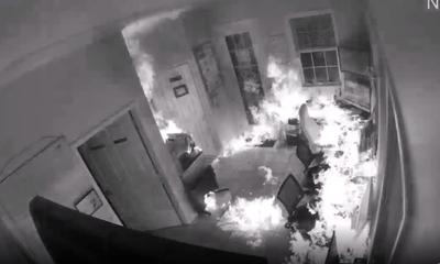 Video: Định phóng hỏa đốt nhà, tên trộm