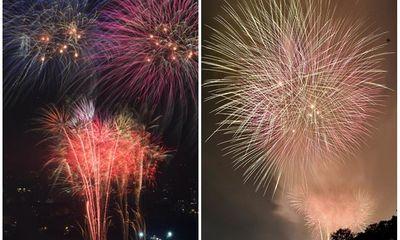 Mãn nhãn màn pháo hoa rực sáng trên bầu trời Hà Nội chào đón năm mới Tân Sửu 2021