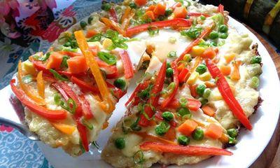 Bánh chưng thừa sau Tết làm pizza ngon lạ, dễ ăn
