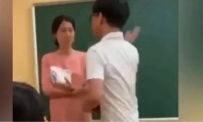 Vụ clip nam sinh tát cô giáo trên bục giảng: Tìm ra tài khoản đưa lên mạng xã hội