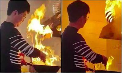 Video: Con rể trổ tài nấu nướng không ngờ lại gây họa, bố mẹ vợ chỉ biết