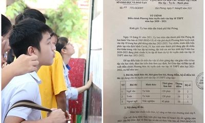 Vì sao sở GD&ĐT Hải Phòng đề xuất bỏ môn thi tổ hợp vào lớp 10?