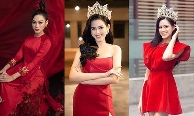 Đỗ Thị Hà có cả tá trang phục khoe dáng nhưng sau tất cả, váy đỏ mới là chân ái