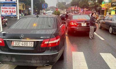 Vụ 2 xe sang Mercedes E300 cùng biển số
