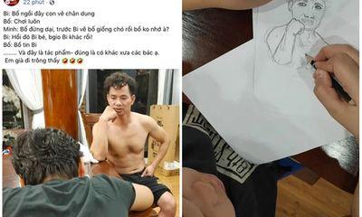 Kỳ công ngồi vẽ bố Xuân Bắc, Bi Béo khiến dân mạng