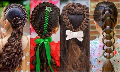Mê mẩn trước 1001 kiểu tóc mẹ tết cho con gái, mái tóc thành kiệt tác 3D tuyệt phẩm