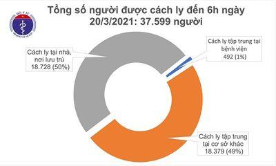 Sáng 20/3, Việt Nam không ghi nhận ca mắc COVID-19 mới