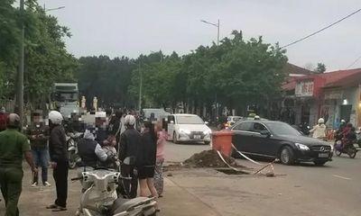Lọt hố ga đang thi công, người phụ nữ ở Huế bị thương phải nhập viện