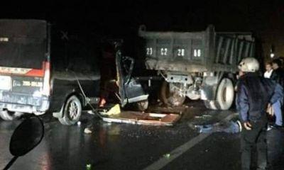 Xe khách tông ô tô tải ở Thái Nguyên, 3 người chết