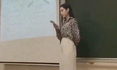Hoa hậu Đỗ Thị Hà bị quay lén tại lớp học, nhan sắc đời thường khiến nhiều người