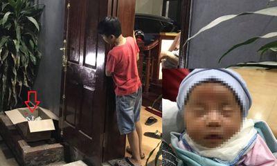 Vụ bé gái sơ sinh bị bỏ rơi trước cửa nhà dân ở Hà Nội: Được đặt trong thùng giấy