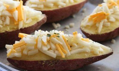 Khoai lang nướng phô mai ngon miệng, đảm bảo ăn xong vẫn thòm thèm
