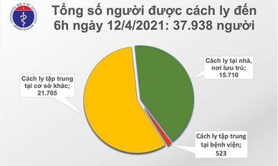 Sáng 12/4, thêm 3 ca nhiễm COVID-19 mới được cách ly tại Hà Nội và Thái Nguyên