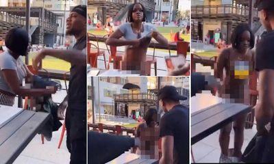 Video: Bị người yêu đòi quà ngay tại nhà hàng, cô gái cởi phăng áo váy ném trả