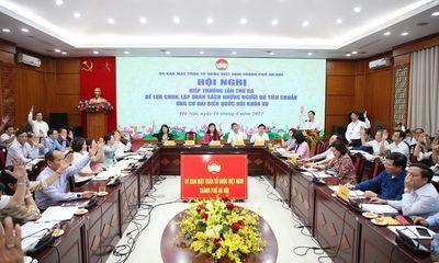 Hà Nội: 36 người đủ tiêu chuẩn ứng cử đại biểu Quốc hội khóa XV