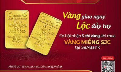 Triển khai dịch vụ mua bán vàng miếng SJC tại SeABank