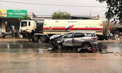 Lâm Đồng: Tai nạn liên hoàn, xe máy dập nát, Quốc lộ 20 ách tắc nghiêm trọng