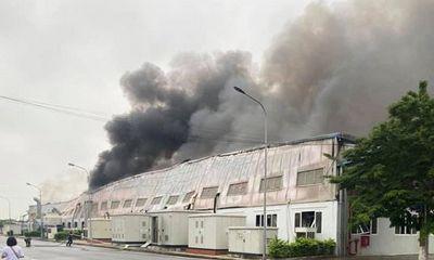 Hải Dương: Cháy lớn tại nhà xưởng công ty điện tử Doosan