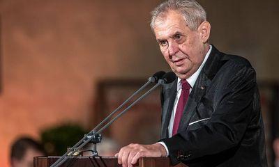 Căng thẳng Nga - CH Séc: Tổng thống Milos Zeman có thể bị buộc tội vì