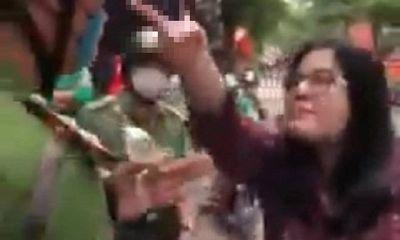 Xử lý người phụ nữ tự xưng công an, cắn cảnh sát ở Hà Nội