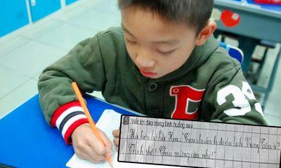 Cậu nhóc làm bài tập tiếng Việt khiến cộng đồng mạng cười ngặt nghẽo, đến cô giáo cũng