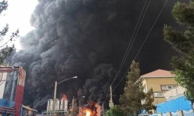 Cháy nhà máy hoá chất, miền Trung Iran rực lửa như ngày tận thế
