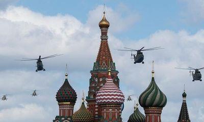 Không quân Nga rầm rộ diễn tập duyệt binh trên bầu trời Quảng trường Đỏ